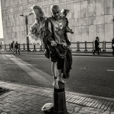 Estatua humana, en carrera séptima junto a la Casa del Florero. 2012